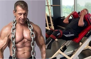 Vince McMahon is a machine in the gym