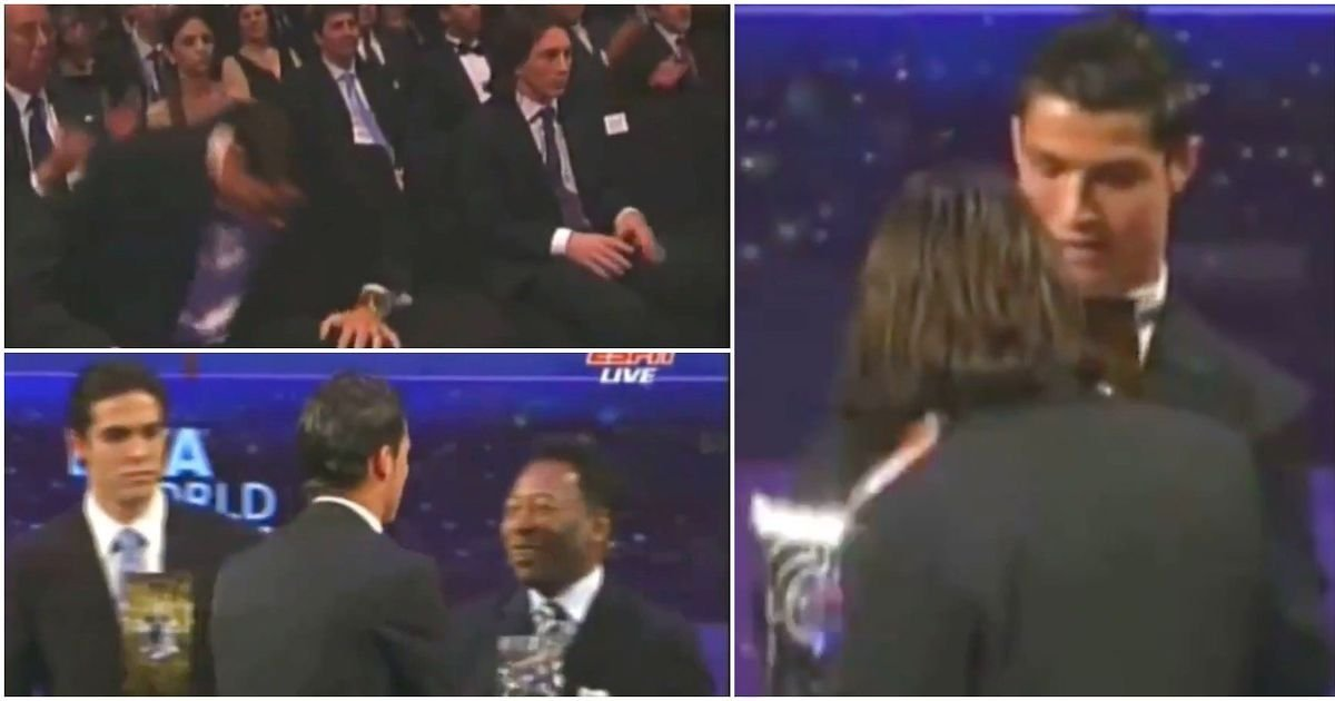 Ronaldo mistakenly considering he'd completed above Messi at 2007 FIFA awards was so awkward