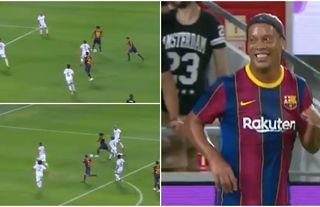 Ronaldinho doing what he does best? Yes please!