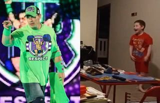 This young kid loved seeing John Cena back in WWE