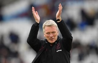 West Ham manager David Moyes claps the club's fans