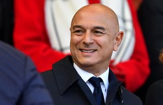 Daniel Levy in the stands for Spurs amid speculation over a move for Cristian Romero