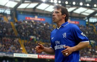 Gianfranco Zola in action for Chelsea