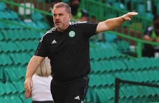 Celtic manager Ange Postecoglou on the touchline in the Champions League