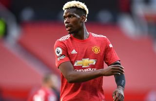 Paul Pogba in action for Man United