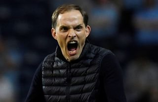Thomas Tuchel on the sidelines for Chelsea amid speculation over a move for Erling Haaland