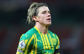 Leeds target Conor Gallagher during his time at West Brom