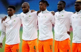Manchester United's Eric Bailly lines up for Ivory Coast at the Olympic Games