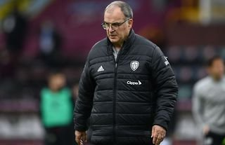 Leeds manager Marcelo Bielsa looking into the distance