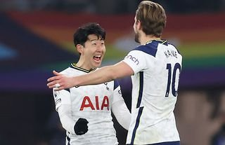 Son Heung-min and Harry Kane in action for Tottenham