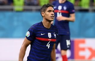 Raphael Varane in action for France amid speculation over a move to Man United