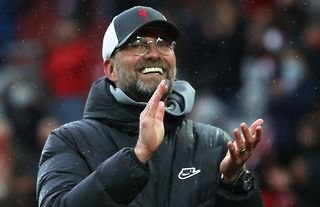 Jurgen Klopp applauds Liverpool fans amid speculation over a move for Chiesa