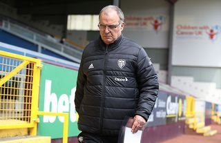 Leeds manager Marcelo Bielsa looking at the ground