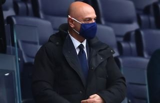 Daniel Levy in the stands for Tottenham amid speculation over a move for Kurt Zouma