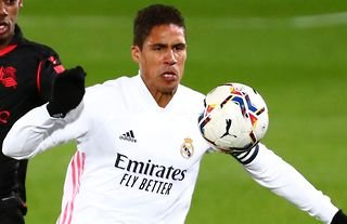 Raphael Varane in action for Real Madrid amid speculation over a move to Man United
