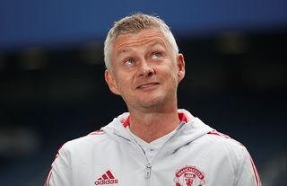 Ole Gunnar Solskjaer on the sidelines for Man United amid speculation over a move for Ruben Neves