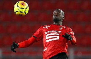 M'Baye Niang in action for Rennes