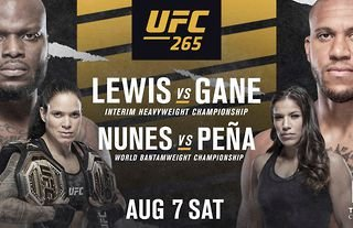 UFC 265 takes place August 7 from Houston, Texas