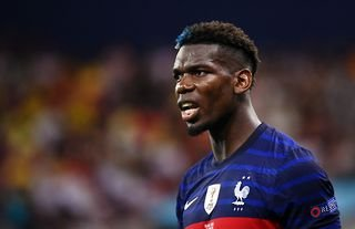 Manchester United midfielder Paul Pogba in action for France