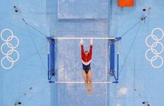 Sunisa Lee of the United States competing at the Tokyo 2020 Olympic Games