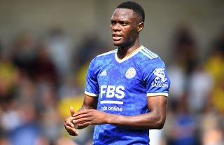 Patson Daka in action for Leicester City