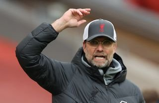 Jurgen Klopp on the sidelines for Liverpool amid speculation over a move for Adama Traore