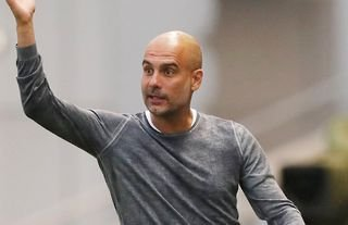 Pep Guardiola on the sidelines for Man City amid speculation over a move for Jack Grealish
