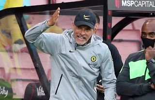 Thomas Tuchel on the sidelines for Chelsea amid speculation over a move for Kounde