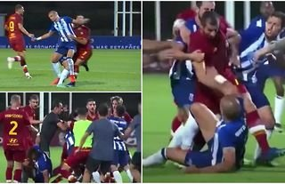 Pepe sparks chaos between Roma and Porto with challenge on Henrikh Mkhitaryan
