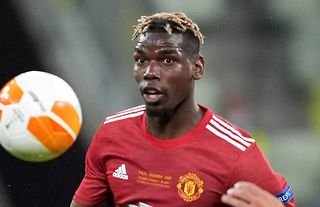 Pogba in action for Man United amid speculation over his future