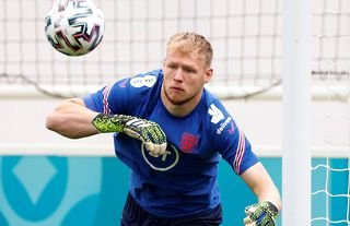 Aaron Ramsdale in training for England amid speculation over a move to Arsenal