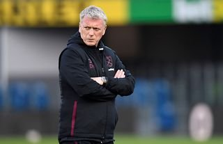 West Ham manager David Moyes looking stern