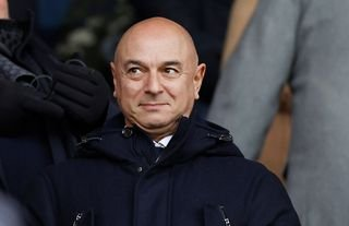 Daniel Levy in the stands for Tottenham amid speculation over Lucas' future
