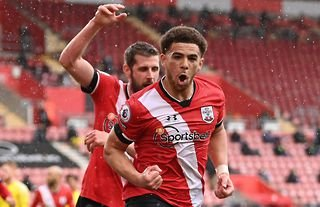 Che Adams celebrates after scoring for Southampton