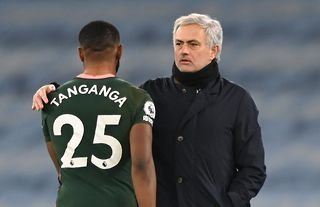 Jose Mourinho with Tanganga amid speculation over the defender's future