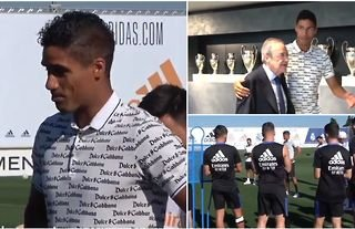 Raphael Varane fought back the tears in his last day at Real Madrid