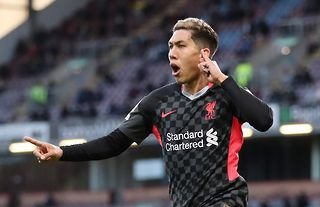 Roberto Firmino celebrates after scoring for Liverpool