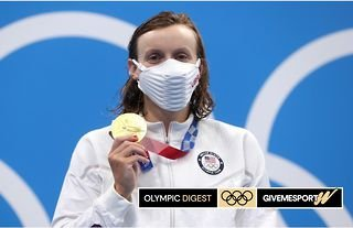 Katie Ledecky has become the joint most successful female Olympic swimmer in history