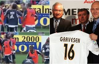 Thomas Gravesen and Robinho involving in a Real Madrid fight