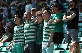 Celtic fans in the ground ahead of their pre-season friendly against West Ham
