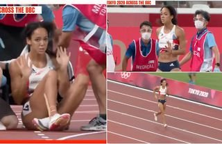 World heptathlon champion Katarina Johnson Thompson waved away a wheelchair to finish the 200m after getting injured at the Tokyo 2020 Olympic Games