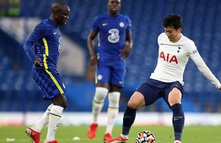 N'Golo Kante and Son Heung-min in Chelsea vs Tottenham