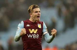 Imminent Manchester City signing Jack Grealish in action for Aston Villa