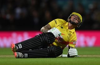 England batsman Alex Hales got hit in the groin by a cricket ball twice in the same over during Trent Rockets' clash with Oval Invincibles in The Hundred on Sunday night.