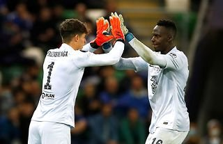 Edouard Mendy could barely conceal his delight after substitute Kepa Arrizabalaga saved the match-winning penalty in Chelsea's win over Villarreal at Windsor Park.