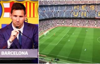 The Lionel Messi chants in the 10th minute at Camp Nou didn't go down too well