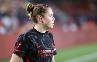 Olivia Moultrie scored her first goal for the Portland Thorns at the Women's International Champions Cup