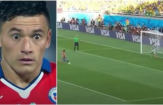 Charles Aránguiz took an incredible penalty for Chile vs Brazil