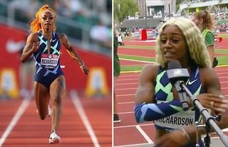 American sprinter Sha'Carri Richardson gave an astonishing interview after finishing last in the women's 100 metres at the Diamond League meeting in Eugene.