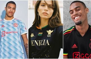 Manchester United and Ajax feature in the top 10 kits